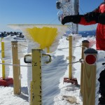 Rime Ice on the precipitation collection can