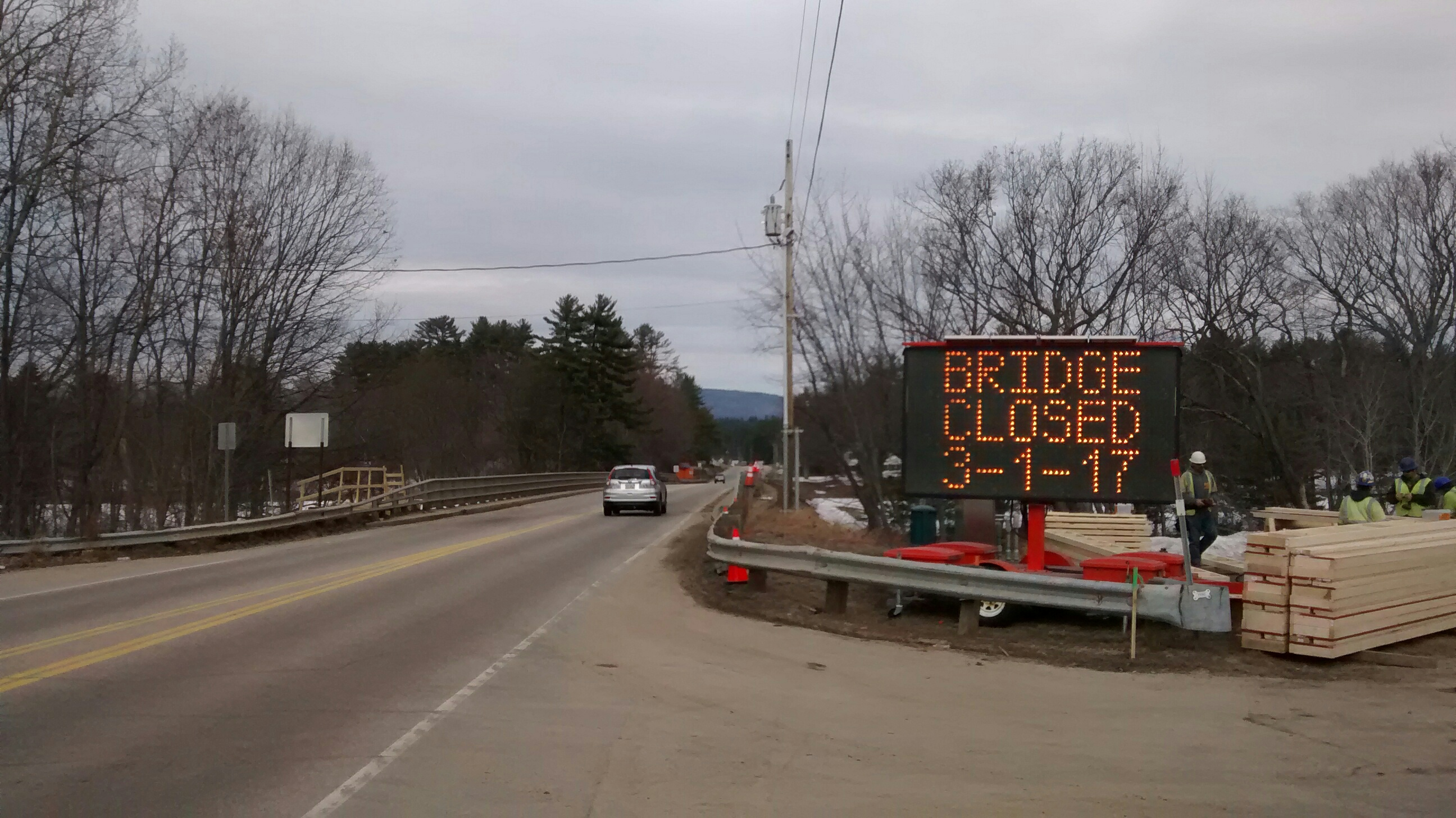 Route 16 Saco River Bridge South Bound Traffic Only Starting